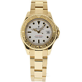 Rolex Yacht-Master 68628 Yellow Gold White Dial Automatic 35mm Unisex Watch