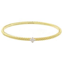 David Yurman 18K Yellow Gold and Diamond Cuff Bracelet