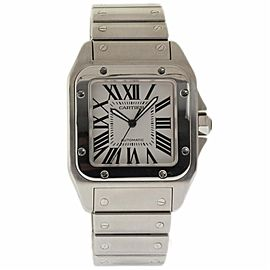 Cartier Santos 100 W200737G Stainless Steel 38mm Mens Watch