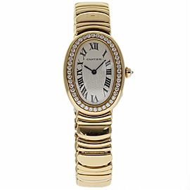 Cartier Baignoire WB520019 18K Yellow Gold 31mm Womens Watch