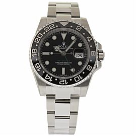 Rolex GMT-Master II 116710 Stainless Steel & Ceramic Black Dial Automatic 40mm Mens Watch 2017