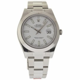 Rolex Datejust II 116300 Stainless Steel White Dial Automatic 41mm Mens Watch