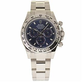 Rolex Daytona 116509 18K White Gold Blue Dial Automatic 40mm Mens Watch 2017