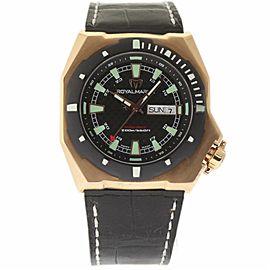 TechnoMarine Royal Marine RIPG02-01 Rose Gold & Leather Automatic 47mm Mens Watch