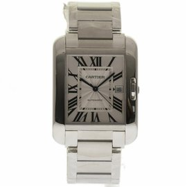 Cartier Tank Anglaise W5310008 Stainless Steel Silver Dial Automatic 47mm Mens Watch