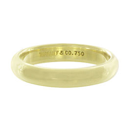 Tiffany & Co. 18K 750 Yellow Gold Wedding Band Ring Size 10.5