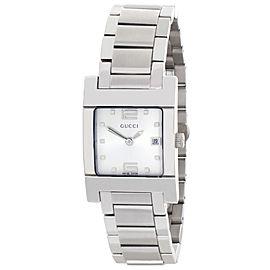 Gucci 7700L Stainless Steel Bracelet 26mm Womens Watch
