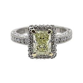 Tacori 18K White/Yellow Gold & 1.98 tcw Diamond Engagement Ring Size 5.25