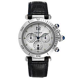 Cartier Pasha Seatimer Chronograph 38mm Steel Mens Watch W3103055