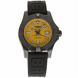 Breitling Avenger II M17331E2/I530 Stainless Steel Coated PVD/DLC Yellow Dial 45mm Mens Watch
