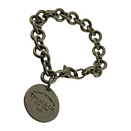 Tiffany & Co. Return to Tiffany 925 Sterling Silver Round Charm Link Bracelet