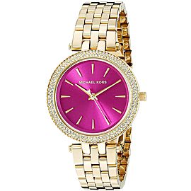 Michael Kors MK3444 Gold Tone Stainless Steel 33mm Womens Watch