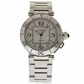 Cartier Pasha Seatimer W31080M7 Stainless Steel 40mm Unisex Watch