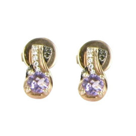 Le Vian Chocolatier 18K Rose Gold with Amethyst and 0.07ct Diamonds Drop Earrings