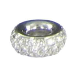 Aaron Basha 18K White Gold 0.48ct. Diamond Spacer Charm