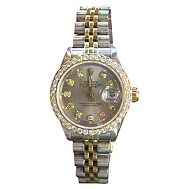 Rolex Datejust Yellow Gold and Stainless Steel Diamonds 25mm Womens Watch