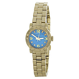 Marc By Marc Jacobs MBM3229 Gold-Tone Stainless Steel Aqua Dial Quartz 20mm Womens Watch