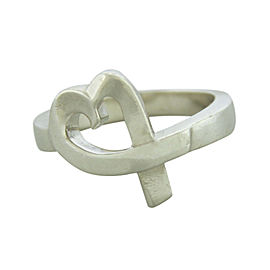 Tiffany & Co. Paloma Picasso 925 Sterling Silver Loving Heart Ring Size 6
