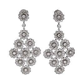 Tiffany & Co. Rose 950 Platinum & Diamond Drop Earrings