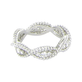 Roberto Coin Barocco 18K White Gold 0.46ct. Diamond Ring Size 6.5