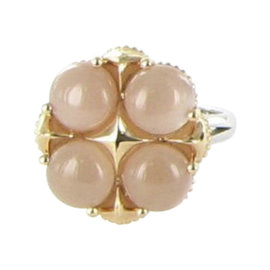 Tacori Moon Rose 18K Rose Gold and 925 Sterling Silver with 4.80ct Moonstone Ring Size 7
