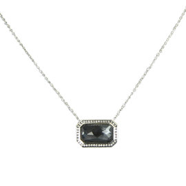 Ippolita Stella Sterling Silver with 0.18ct Diamond ,Quartz and Hematite Necklace