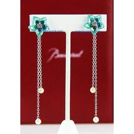 Silver Turquoise, Pearl Womens Earrings