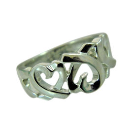 Tiffany & Co. Paloma Picasso 925 Sterling Silver Loving Heart Ring Size 5.5