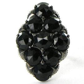 Tacori City Lights 925 Sterling Silver & 18K Yellow Gold Black Onyx Ring Size 7