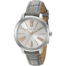 Michael Kors Hartman MK2479 Silver Dial Grey Leather Strap 38mm Womens Watch