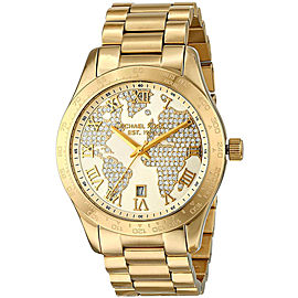 Michael Kors MK5959 Gold Tone Stainless Steel 43mm Womens Watch