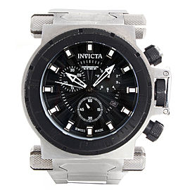 Invicta Coalition Forces 10028 Black Dial Stainless Steel Bracelet 50mm Mens Watch