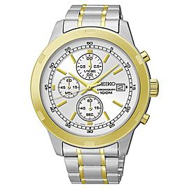 Seiko SKS432 Two-Tone Chronograph Quartz 43mm Mens Watch