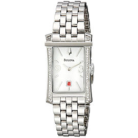 Bulova 96R187 Winslow Stainless Steel White Diamond Dial 21mm Womens Watch