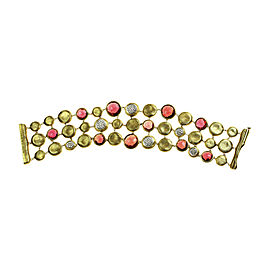 Marco Bicego 18K Yellow Gold with Diamond Garnet Bracelet