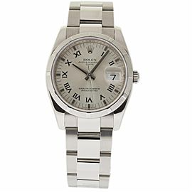 Rolex Date 115210 Stainless Steel Automatic 34mm Unisex Watch