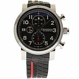 Graham Silverstone 2BLES.B35B Stainless Steel & Rubber Automatic 43mm Mens Watch