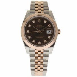 Rolex Datejust II 126301 Stainless Steel & 18K Rose Gold Chocolate Diamond Dial Automatic 41mm Mens Watch