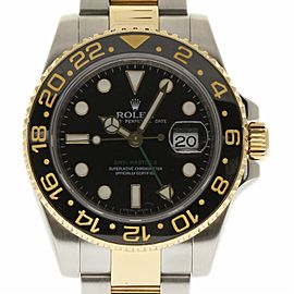 Rolex GMT-Master II 116713 Stainless Steel and Yellow Gold 40mm Mens Watch