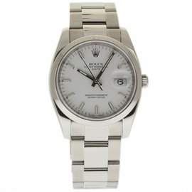 Rolex Date 115200 Stainless Steel White Index Dial Automatic 34mm Unisex Watch
