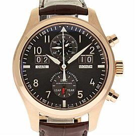 IWC IW379105 Pilot Spitfire Perpetual Calendar Rose Gold Mens 46mm Watch