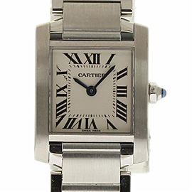 Cartier Tank Francaise W51008Q3 Stainless Steel Men's Watch