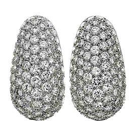 Van Cleef & Arpels 950 Platinum Diamond Earrings