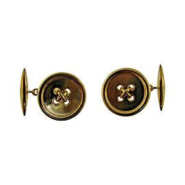 Cartier Cute 14K Yellow Gold Button Cufflinks