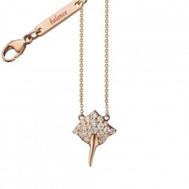 Monica Rich Kosann Balance 18K Rose Gold & Diamond Critter Stingray Charm Necklace