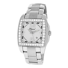 Chopard Two O Ten 108464-2001 18K White Gold & Stainless Steel 1.87 ct. Diamonds 34mm Mens Watch