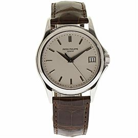 3ca34c5bcc0 Patek Philippe Calatrava 5227G 18K White Gold & Leather Ivory Dial Automatic  39mm Mens Watch