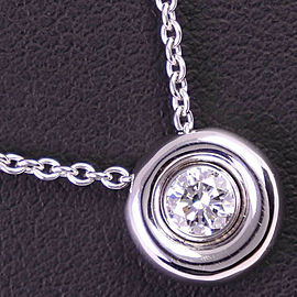 Chaumet 18k white gold/diamond ANNEAU Necklace