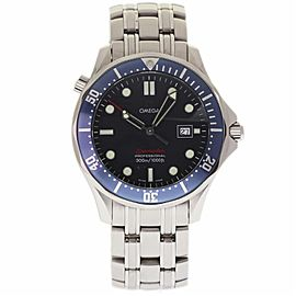 Omega Seamaster 2221.80 Stainless Steel Blue Dial Quartz 41mm Mens Watch