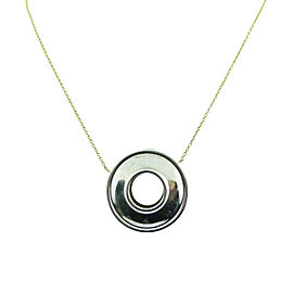 Tiffany & Co. Paloma Picasso 18K Yellow Gold & 925 Sterling Silver Circular Pendant Necklace